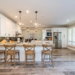 wooden chairs in beauiful kitchen