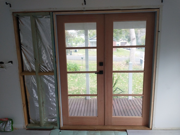 French doors finished